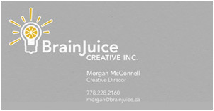 Brain Juice Business Card Design