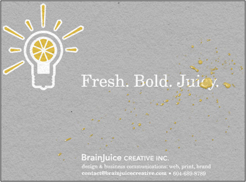 Brain Juice Holding Page Design