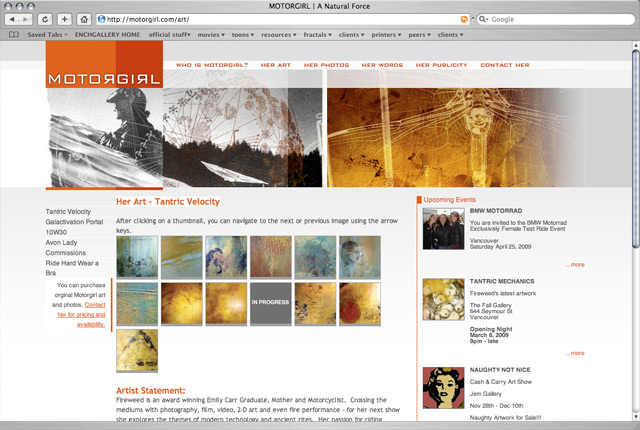 Motorgirl Website Design