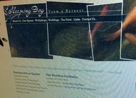 Sleeping Dog Farm Rebrand including website, logo, business cards, promotional book, brochures, and more.
